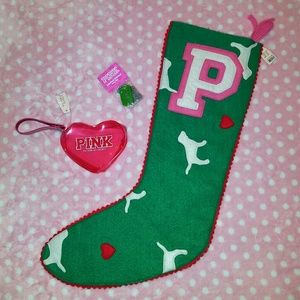 NWT Victoria's Secret Pink Christmas Stocking Coin